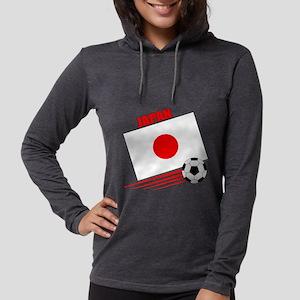 japan soccer &ball  Womens Hooded Shirt
