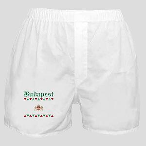 Flag Of Budapest Design Boxer Shorts