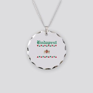 Flag Of Budapest Design Necklace Circle Charm