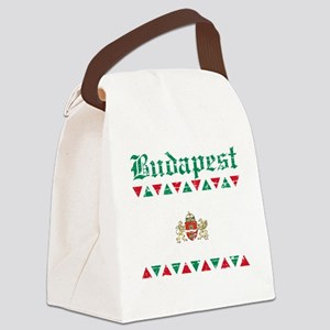 Flag Of Budapest Design Canvas Lunch Bag