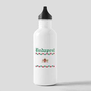 Flag Of Budapest Design Stainless Water Bottle 1.0