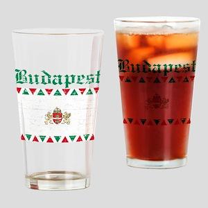 Flag Of Budapest Design Drinking Glass