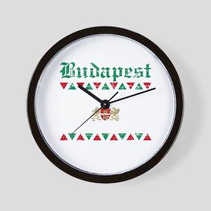 Flag Of Budapest Design Wall Clock