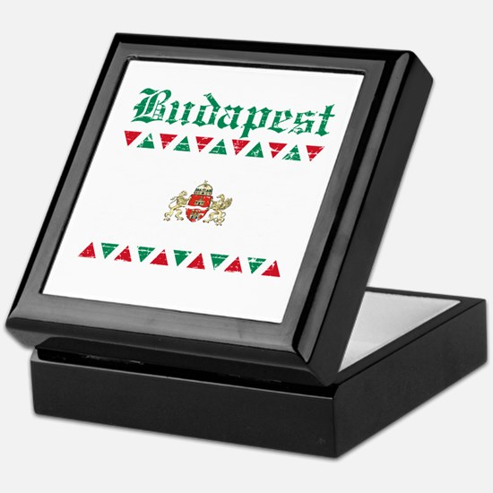 Flag Of Budapest Design Keepsake Box