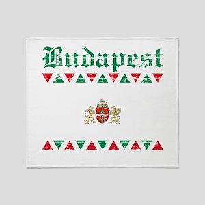 Flag Of Budapest Design Throw Blanket