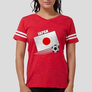 japan soccer &ball drk Womens Football Shirt
