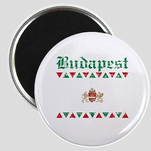 Flag Of Budapest Design Magnet