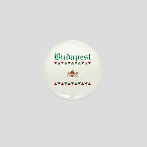 Flag Of Budapest Design Mini Button