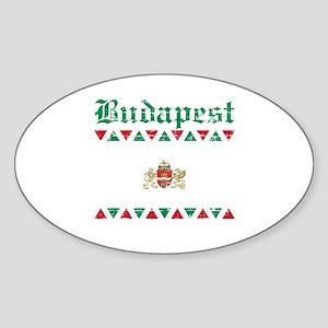 Flag Of Budapest Design Sticker (Oval)