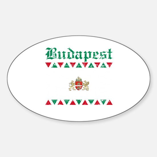 Flag Of Budapest Design Sticker (Oval)