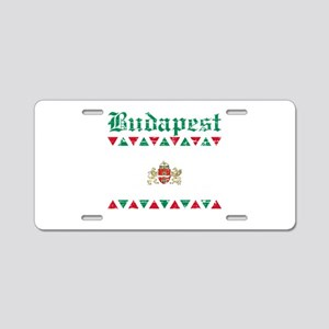 Flag Of Budapest Design Aluminum License Plate
