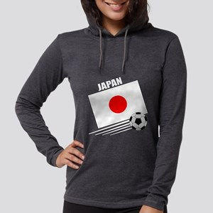 japan soccer &ball drk Womens Hooded Shirt