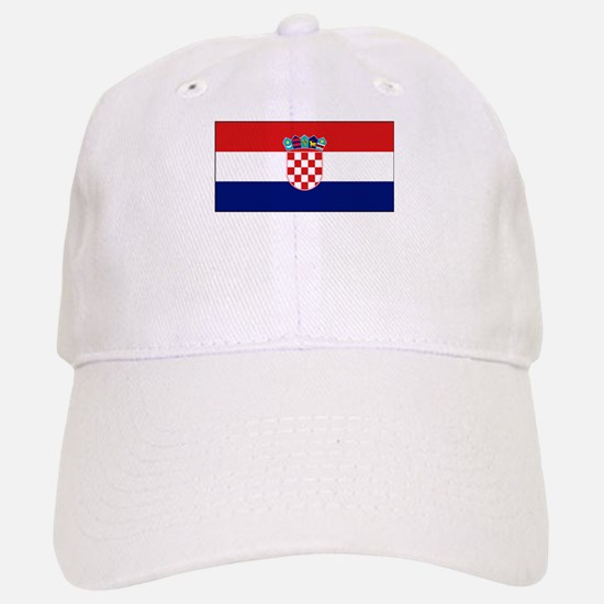 Croatia Flag Picture Baseball Baseball Cap