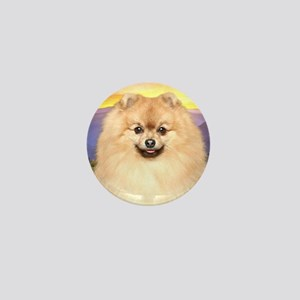 Pomeranian Meadow Mini Button