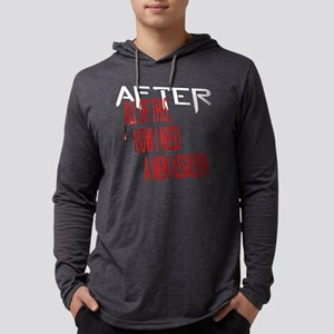 After all of this dark shirt M.p Mens Hooded Shirt
