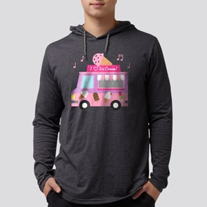 I love Ice Cream Truck Mens Hooded Shirt