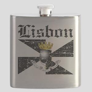 Flag Of Lisbon Design Flask