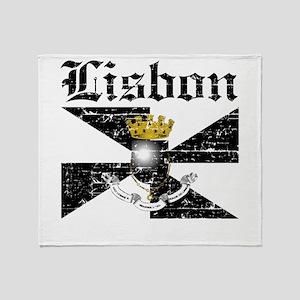 Flag Of Lisbon Design Throw Blanket