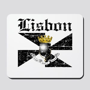 Flag Of Lisbon Design Mousepad