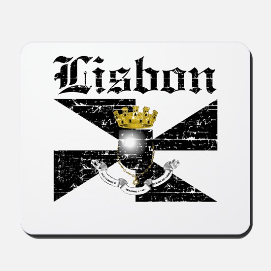 Flag Of Lisbon Design Mousepad