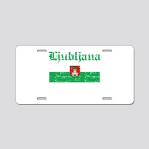 Flag Of Ljubljana Design Aluminum License Plate