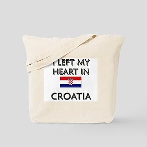 I Left My Heart In Croatia Tote Bag