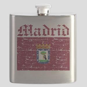 Flag Of Madrid Design Flask