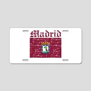 Flag Of Madrid Design Aluminum License Plate