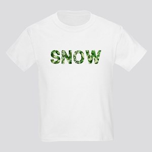 Snow, Vintage Camo, Kids Light T-Shirt