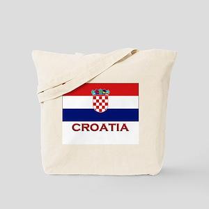 Croatia Flag Merchandise Tote Bag