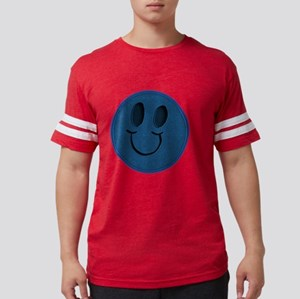 Blue Jeans Smiley Mens Football Shirt