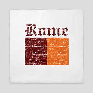 Flag Of Rome Design Queen Duvet