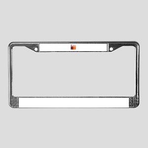 Flag Of Rome Design License Plate Frame