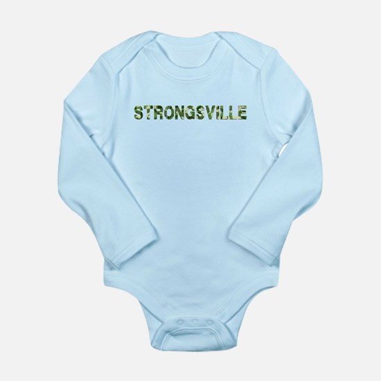Strongsville, Vintage Camo, Long Sleeve Infant Bod