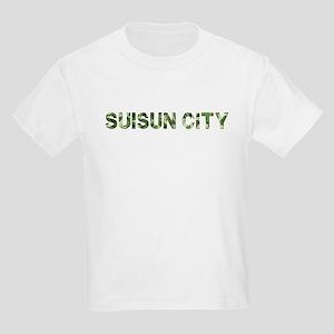 Suisun City, Vintage Camo, Kids Light T-Shirt