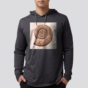 Perisphinctes ammonite, artwork Mens Hooded Shirt
