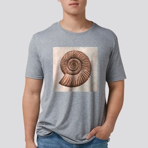 Perisphinctes ammonite, art Mens Tri-blend T-Shirt