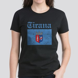 Flag Of Tirana Design Women's Dark T-Shirt