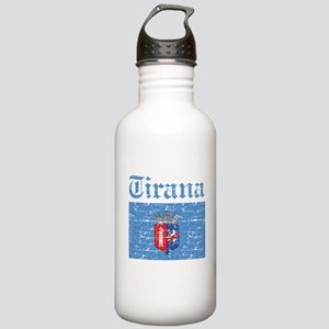 Flag Of Tirana Design Stainless Water Bottle 1.0L