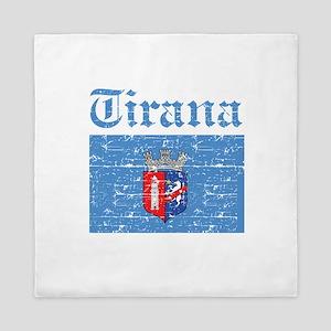 Flag Of Tirana Design Queen Duvet