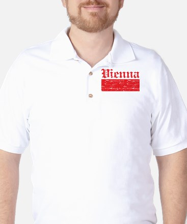 Flag Of Vienna Design Golf Shirt
