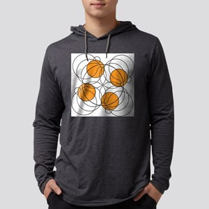 4 hoops 8? Mens Hooded Shirt