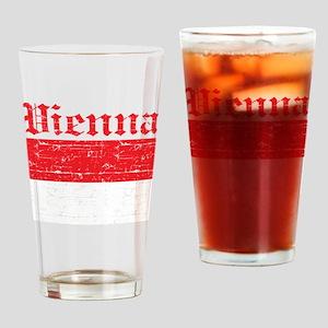 Flag Of Vienna Design Drinking Glass