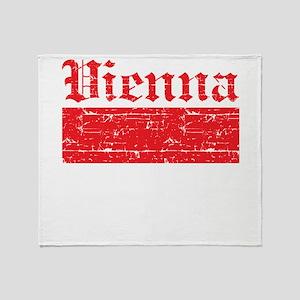 Flag Of Vienna Design Throw Blanket