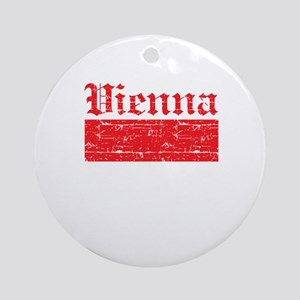 Flag Of Vienna Design Ornament (Round)