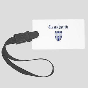 Flag Of Reykjavik Design Large Luggage Tag