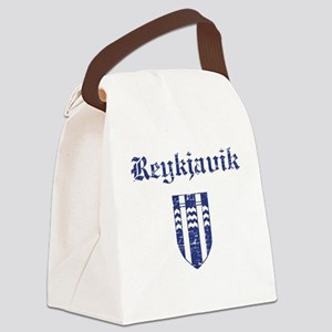 Flag Of Reykjavik Design Canvas Lunch Bag