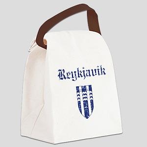 Flag Of Reykjavik Design Canvas Lunch Bag