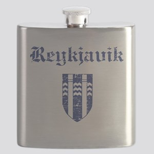 Flag Of Reykjavik Design Flask
