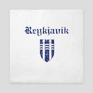 Flag Of Reykjavik Design Queen Duvet